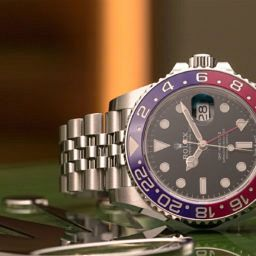 Rolex GMT Master II Pepsi Steel Swiss Watch Luxury