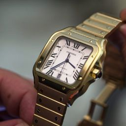HANDS-ON: This watch means business – the Cartier Santos in yellow gold
