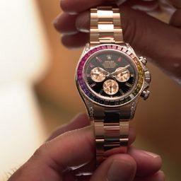 best gold watches Rolex Daytona Rainbow