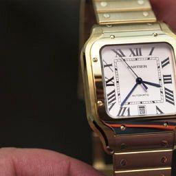 Cartier Santos Yellow gold Slider Swiss Watch Luxury