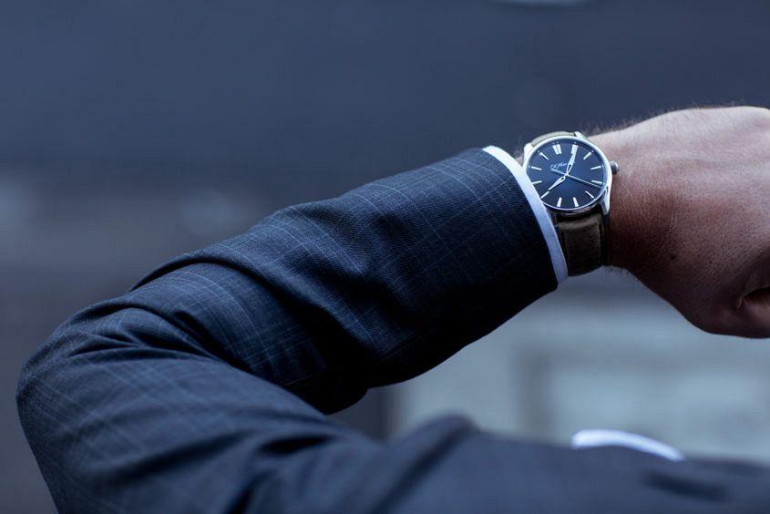 H. Moser & Cie Pioneer on wrist.