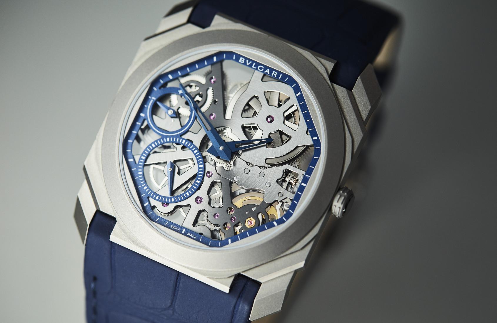 Bulgari Octo Finissimo Skeleton Titanium Blue