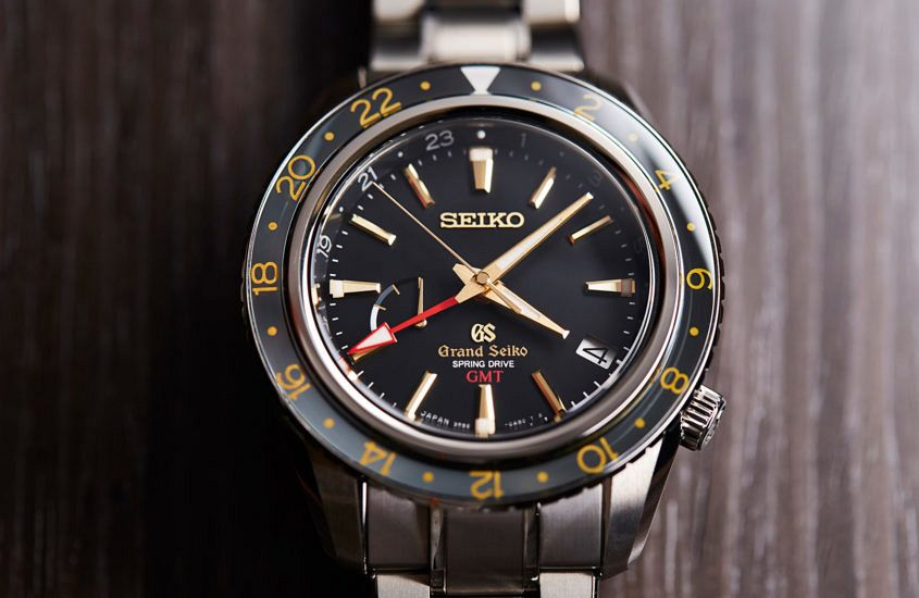 Grand Seiko Spring Drive GMT in titanium (ref. SBGE215G)