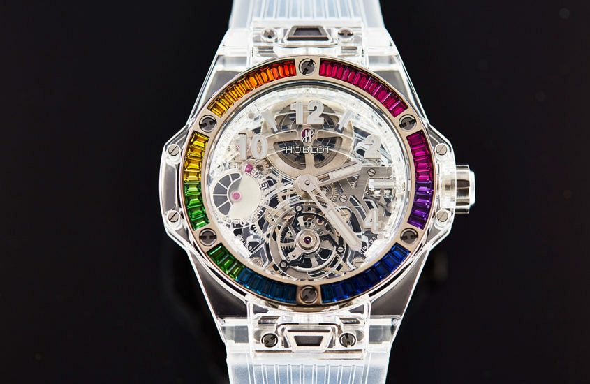 Hublot Big Bang Tourbillon Power Reserve 5 Days Sapphire Rainbow
