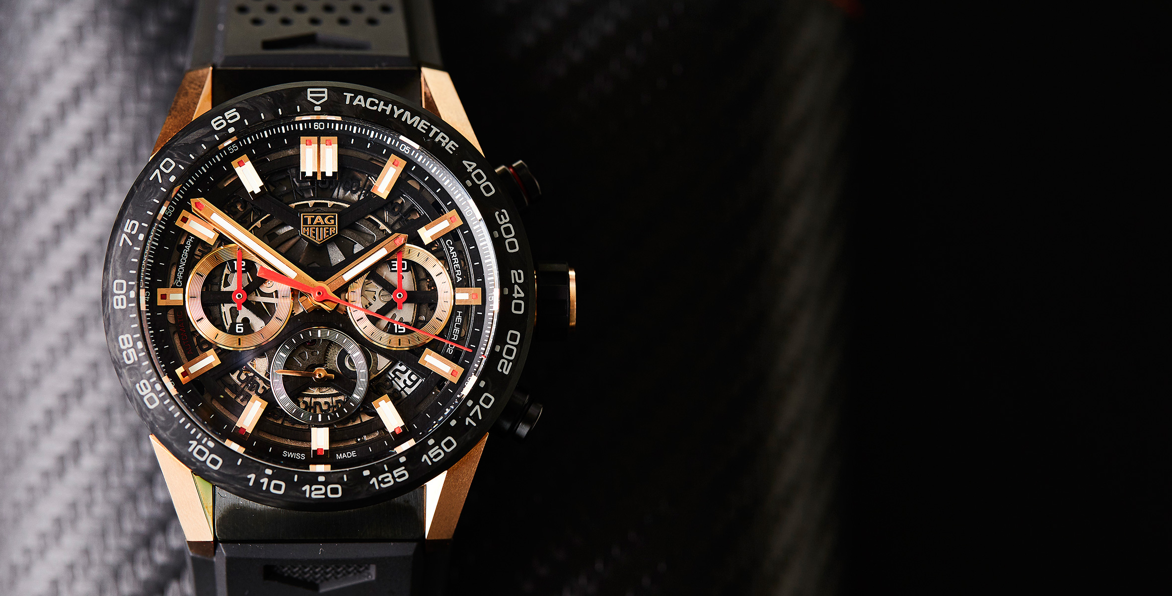 025bb5dfdc5 HANDS-ON: A flash on the wrist – the carbon and gold TAG Heuer Carrera Heuer  02 Carbon | Time and Tide Watches