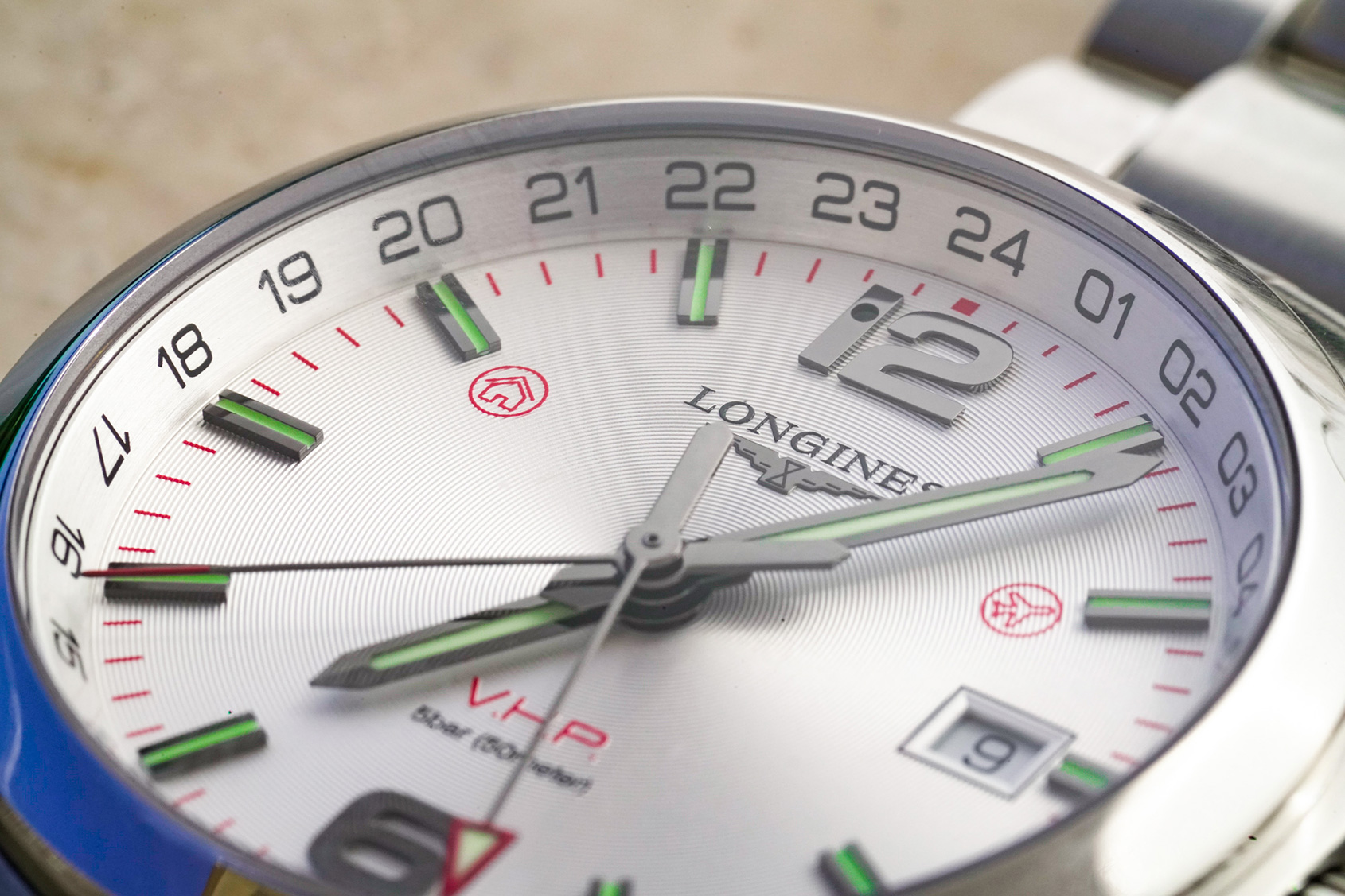 863145fadc6 From a bird s-eye view this Longines dial is quite well executed