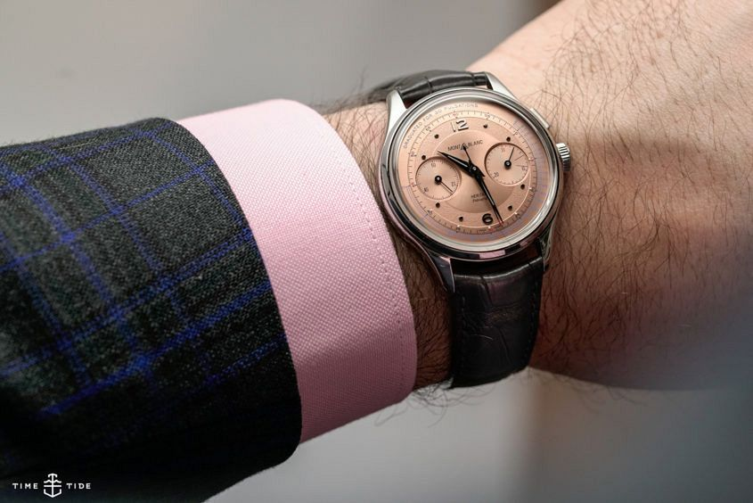 Montblanc Heritage Pulsograph on the wrist