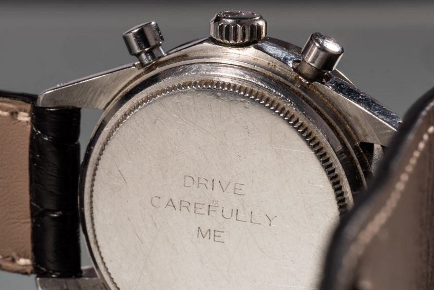 Paul Newman Daytona with engraving 'Drive Carefully Me'