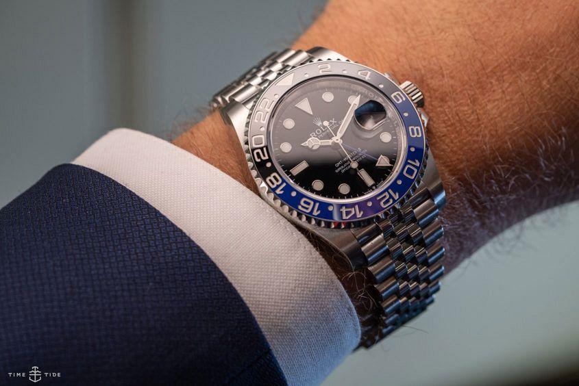 Rolex GMT-Master II BLNR 'Batman' on Jubilee.