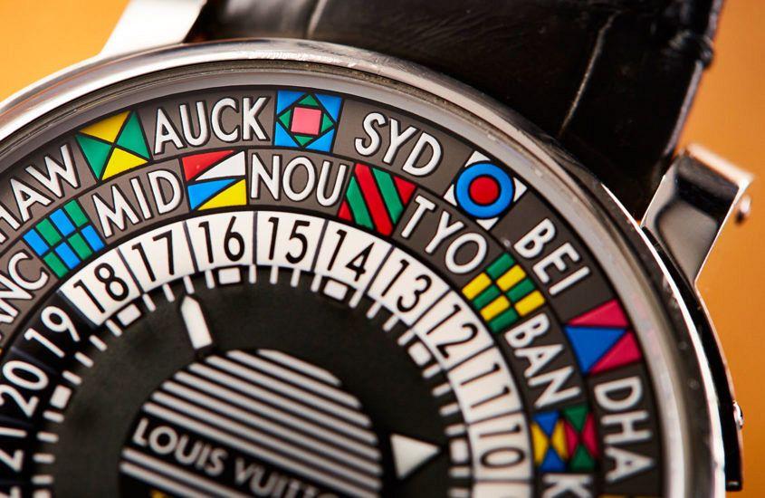 Louis Vuitton Escale Time Zone dial detail