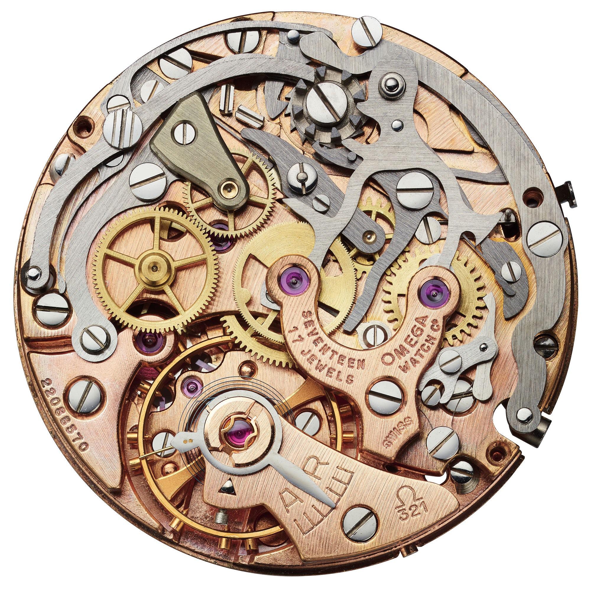 Omega Speedmaster Moonwatch 321 Platinum movement