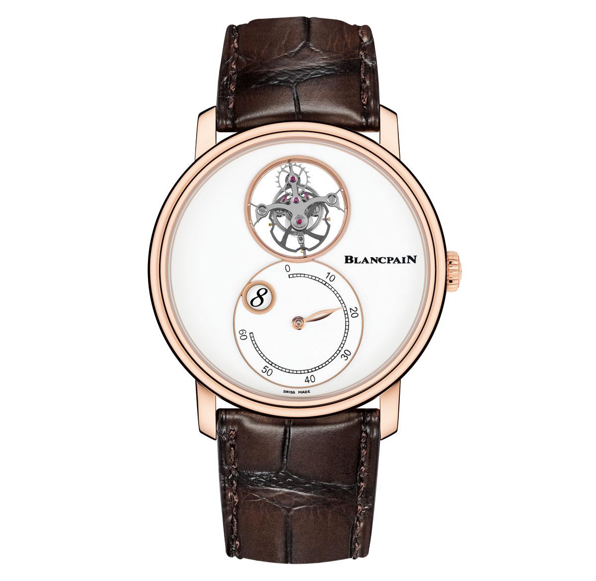 BLANCPAIN TOURBILLON VOLANT HEURE SAUTANTE MINUTE RÉTROGRADE - best watches without hands