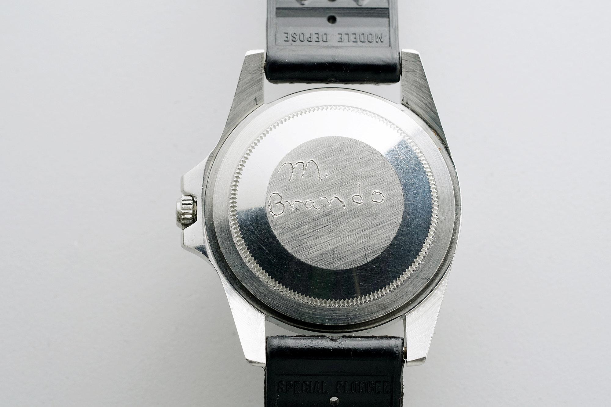 Marlon Brando Rolex GMT back