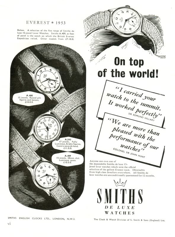 Smiths Advertisement Everest - Mount Everest watches