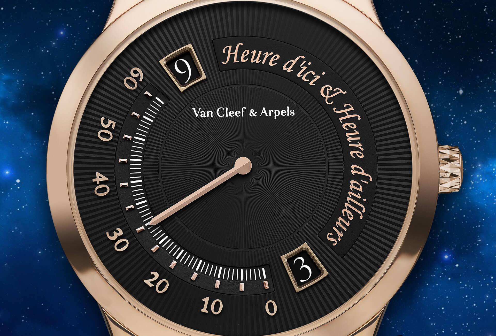 VAN CLEEF & ARPELS MIDNIGHT HEURE D'LCI & HEURE D'AILLEURS WATCH