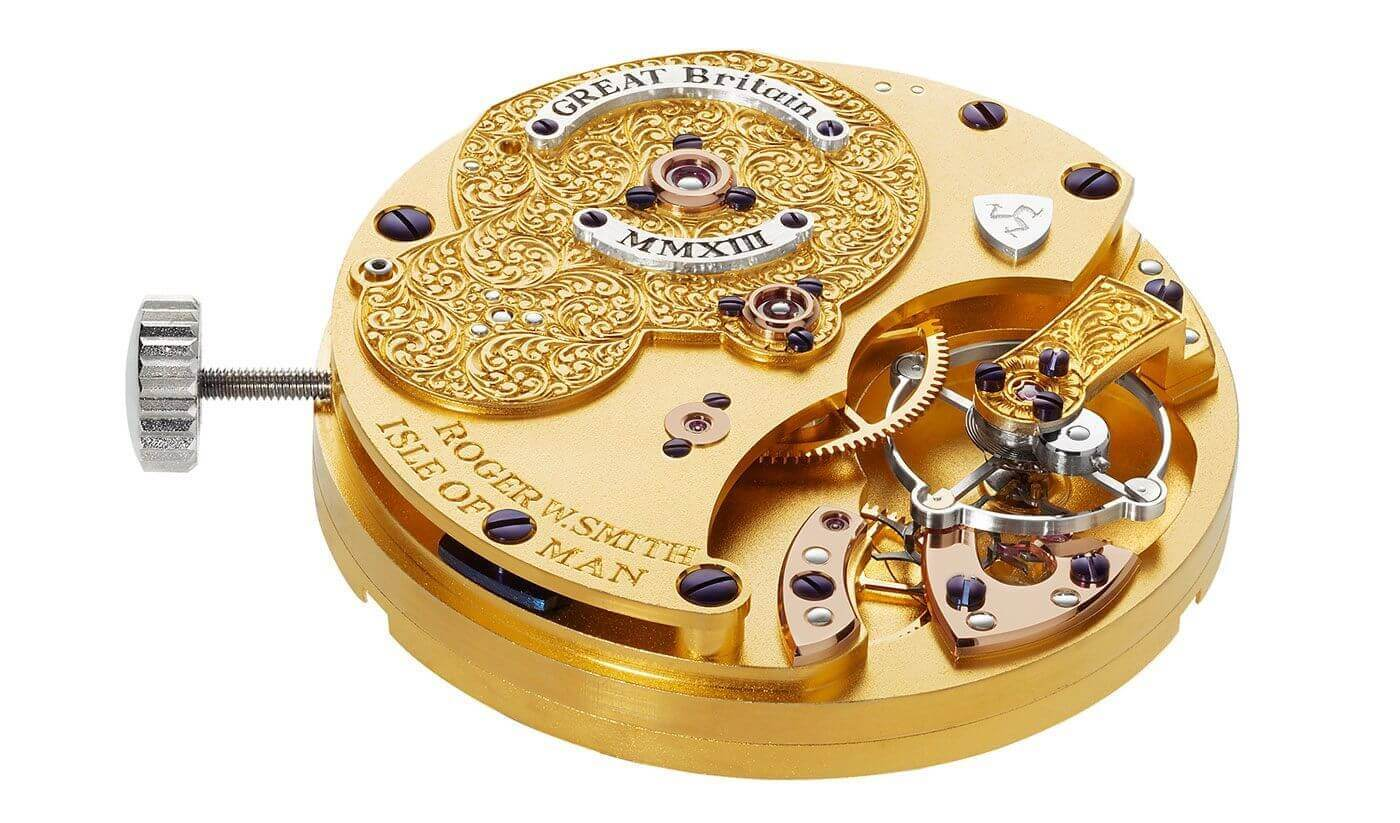 Movement of the Roger Smith Great Britain watch.