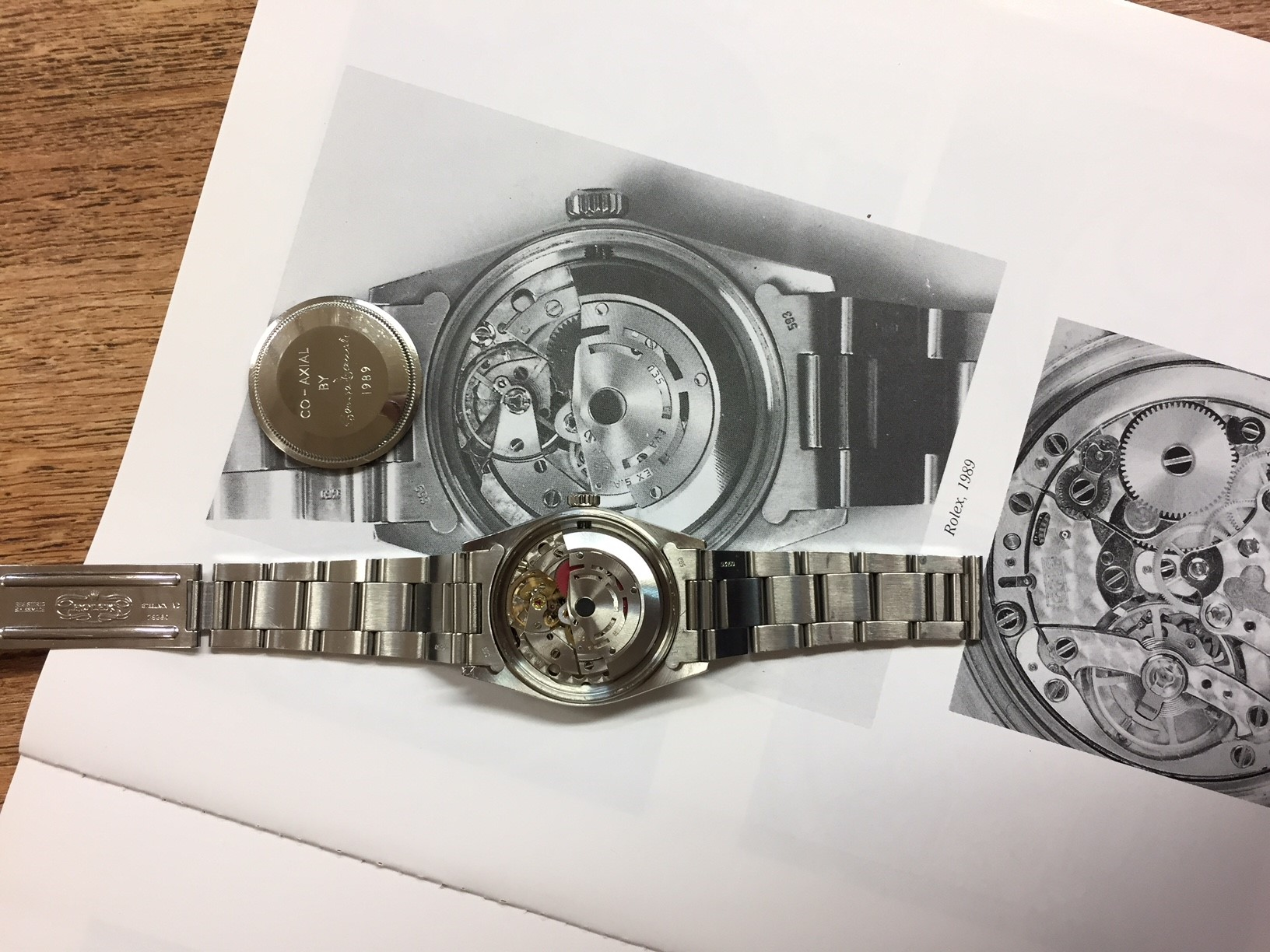 The Rolex Oyster Daniels modified to house his co-axial escapement