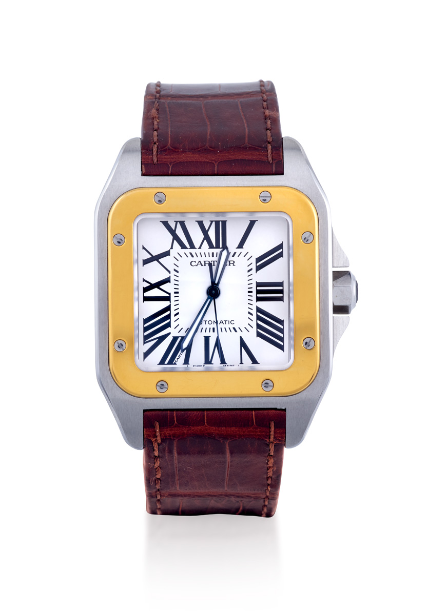 CARTIER SANTOS 100 REF 2656 - Sotheby's Australia Important Jewels Auction