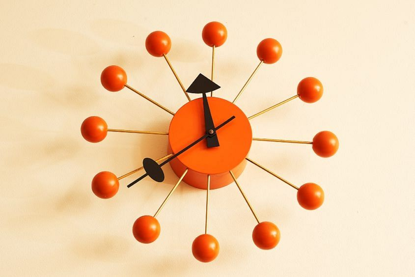Bob Hawke's George Nelson Orange Ball Wall Clock