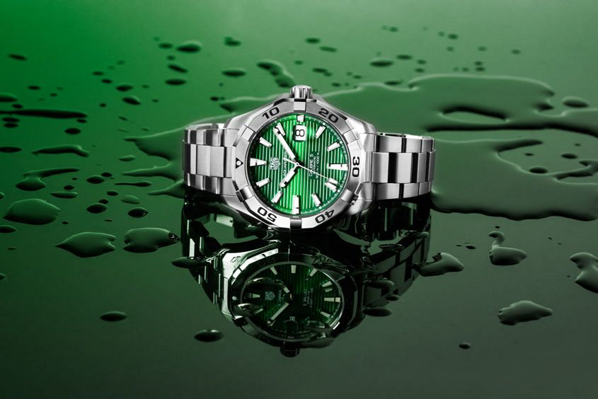 TAG Heuer Aquaracer with green dial