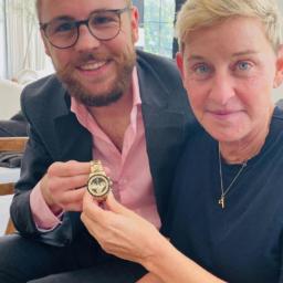 "Ellen DeGeneres's new solid gold Rolex Daytona ""Paul Newman"" ref. 6241"