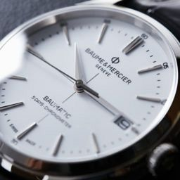 the Baume & Mercier Clifton Baumatic white dial