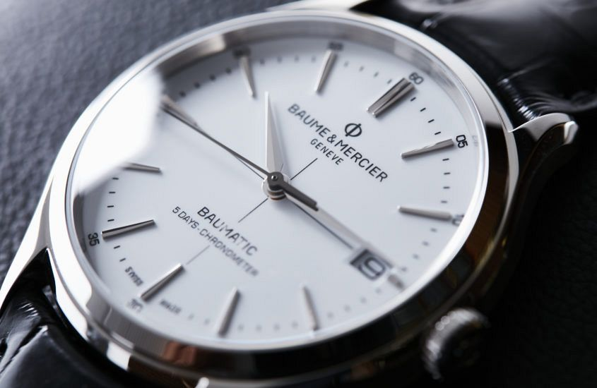 Baume and Mercier Clifton 0389 845x550 - VIDEO: Why the white dial Clifton Baumatic is classic cool
