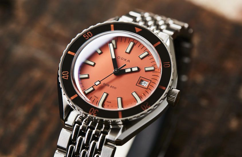 Doxa Sub 200 Orange 10563 845x550 - Bid on this watch and help Australians fight our worst ever ...