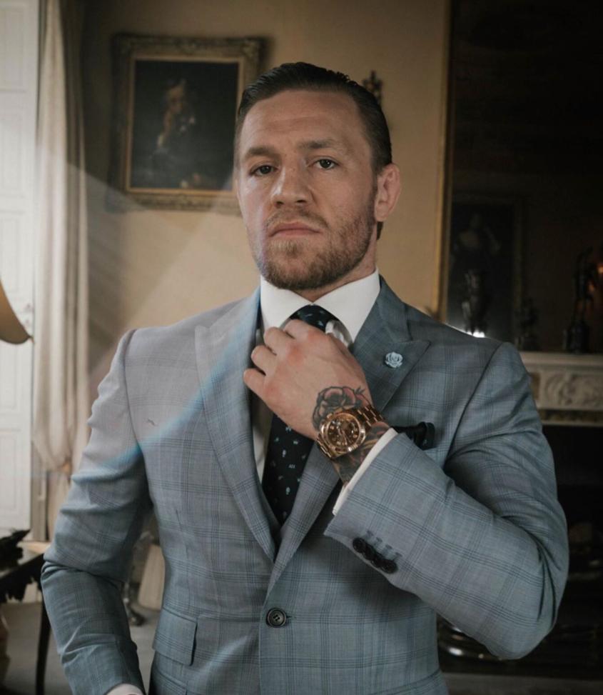 Conor McGregor watches