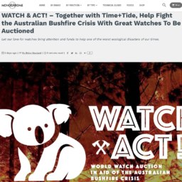 Australian bushfire crisis watch auction