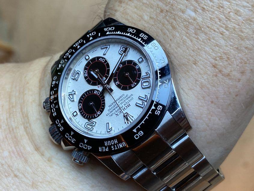 Glenn's modified Rolex Daytona ref. 116500LN with a ref. 116509 dial