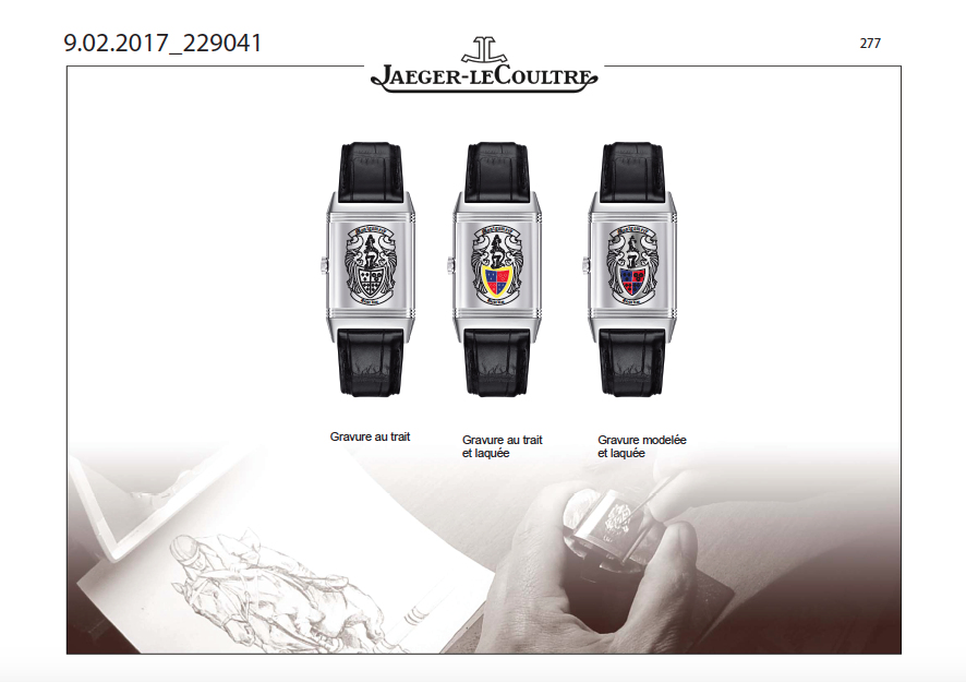 Jaeger-LeCoultre Reverso engraved