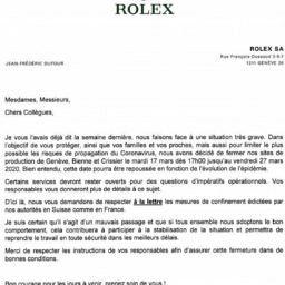 Rolex shuts down production