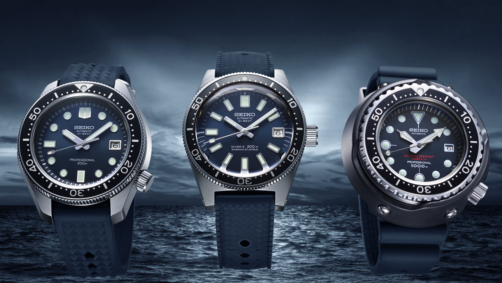 Seiko's latest dive watch trilogy pay tribute to three classics