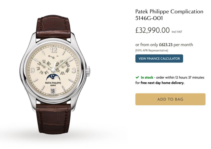 buy Patek Philippe online