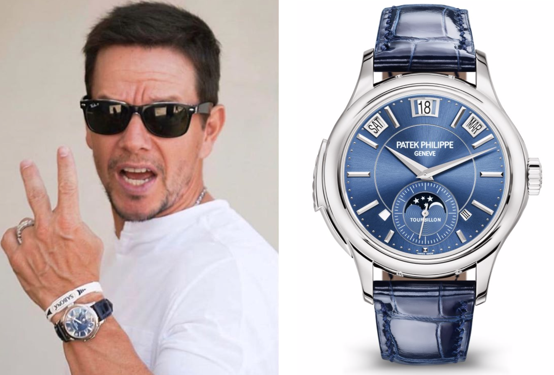 Kevin Hart Mark Wahlberg watch collection Rolex Patek Philippe