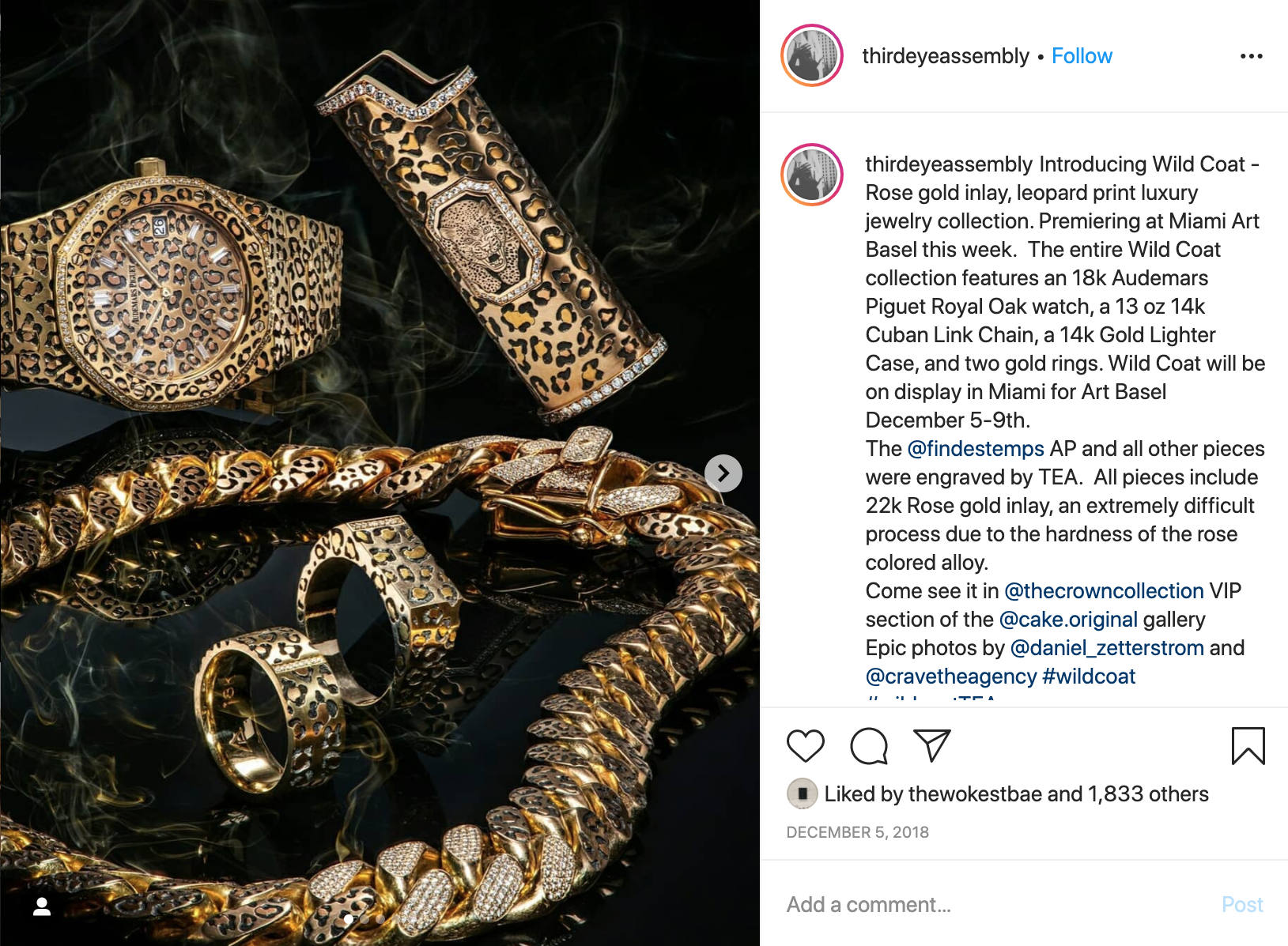 Billie Eilish custom leopard print Audemars Piguet Royal Oak