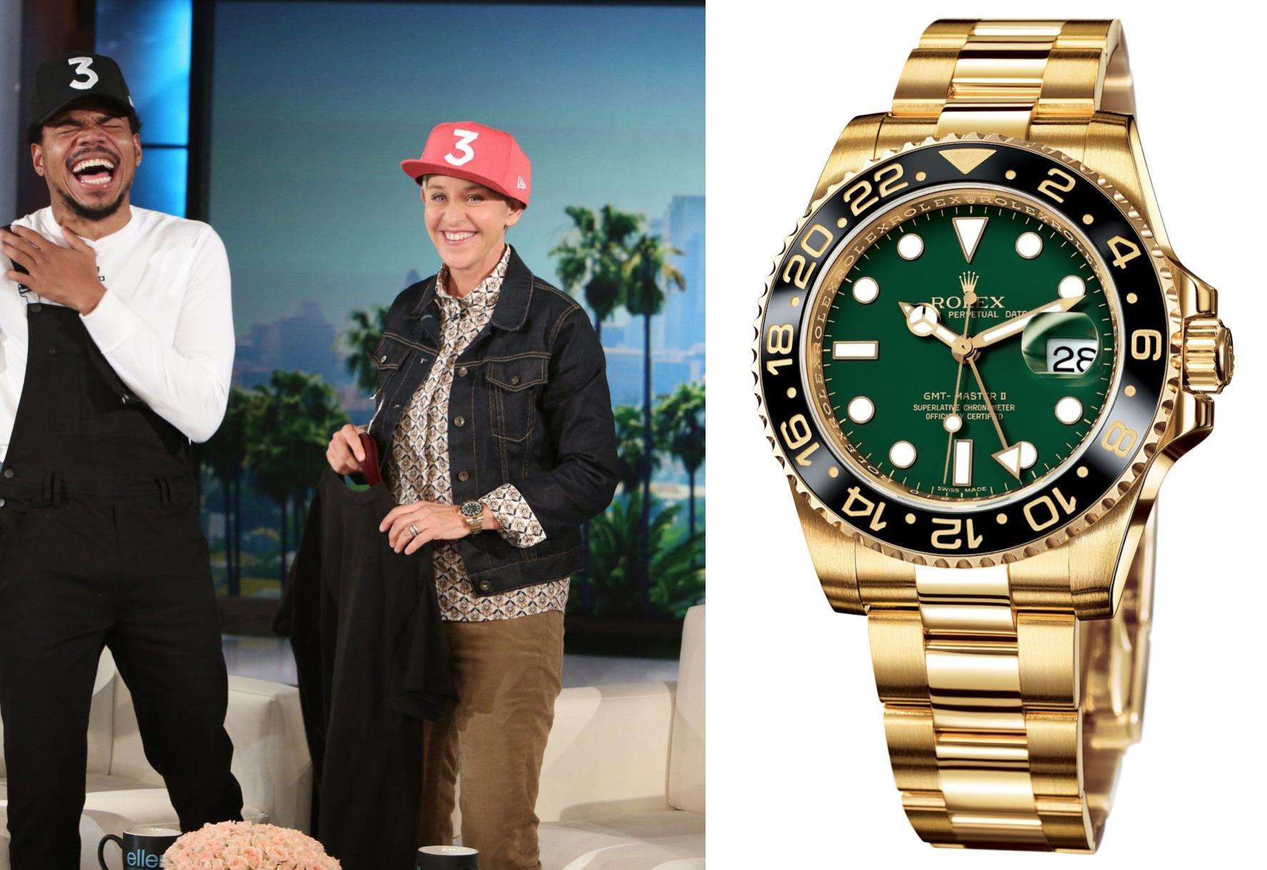 Ellen DeGeneres Trevor Noah Patek Philippe Rolex Audemars Piguet