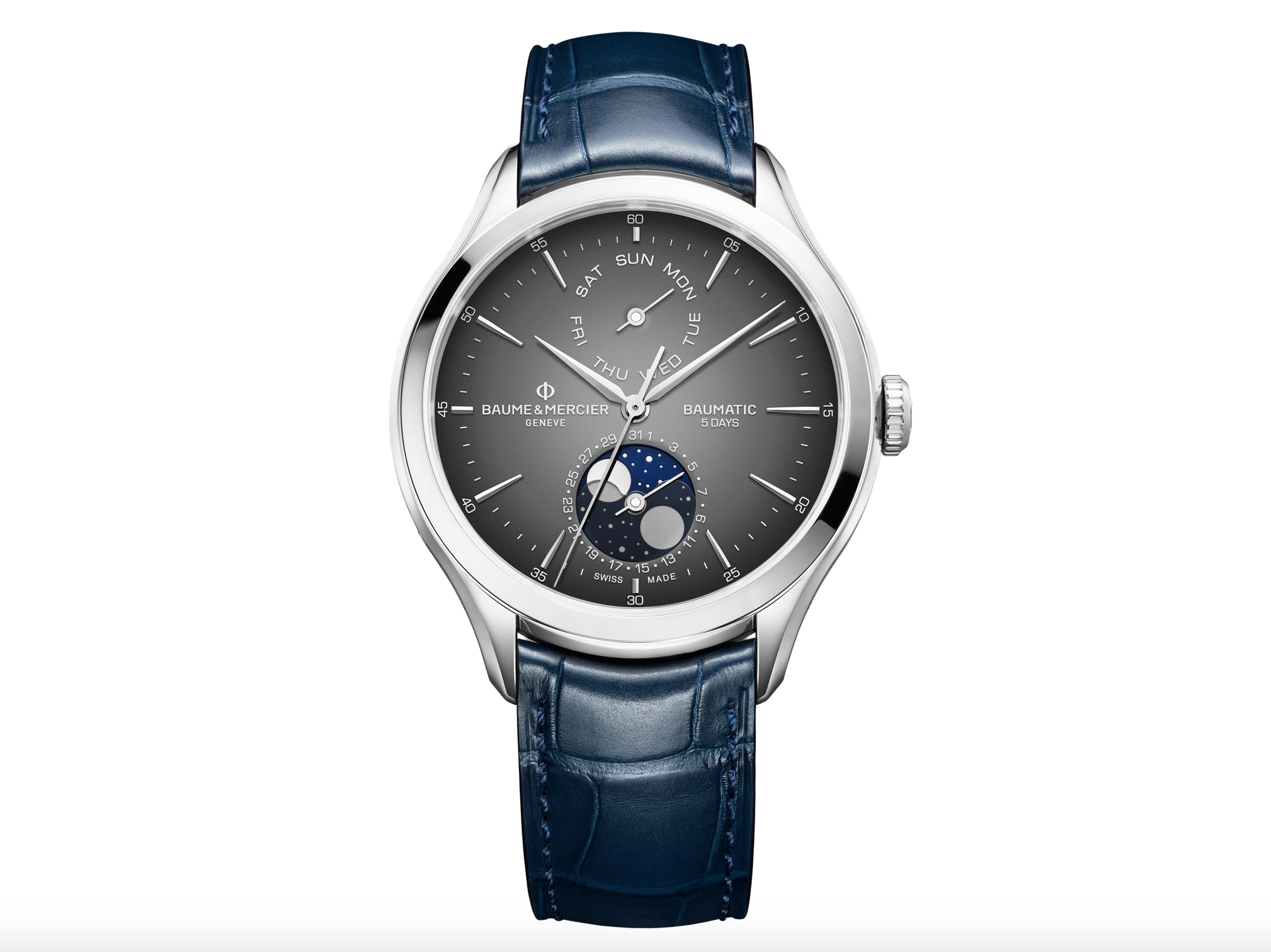 Baume & Mercier Clifton Baumatic Day-Date and Moon-Phase Automatic