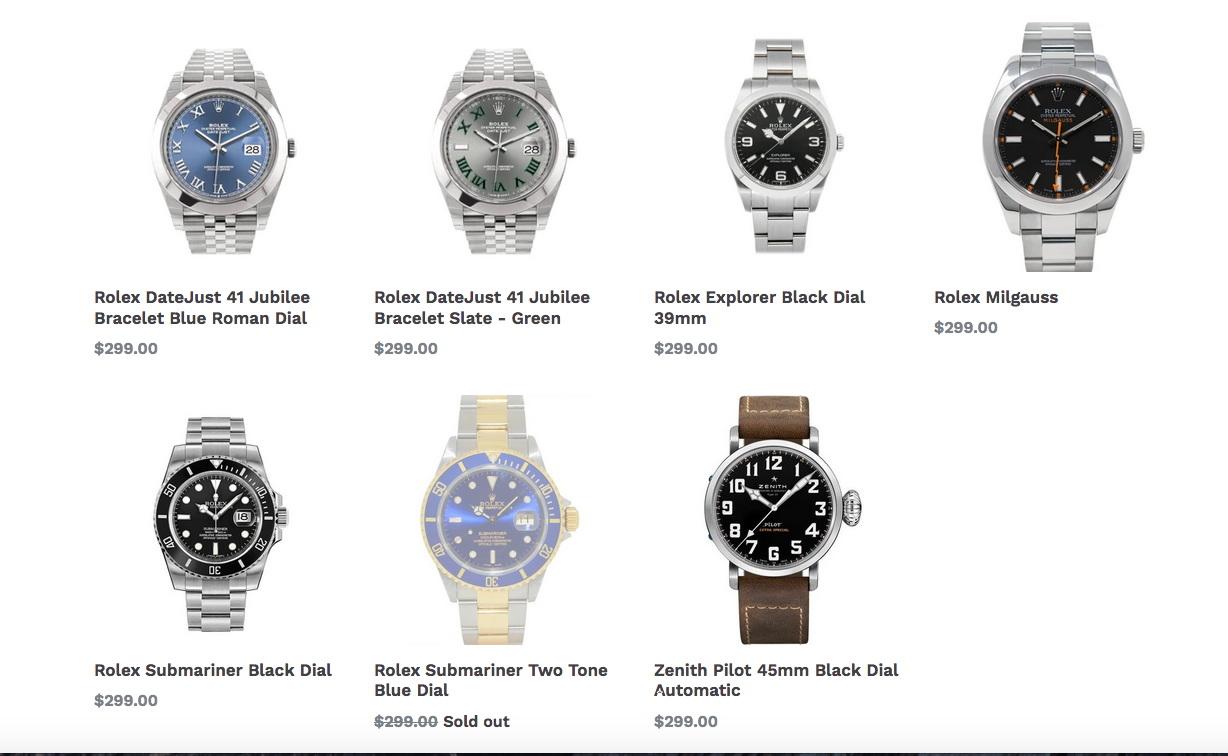 luxury watch rentals