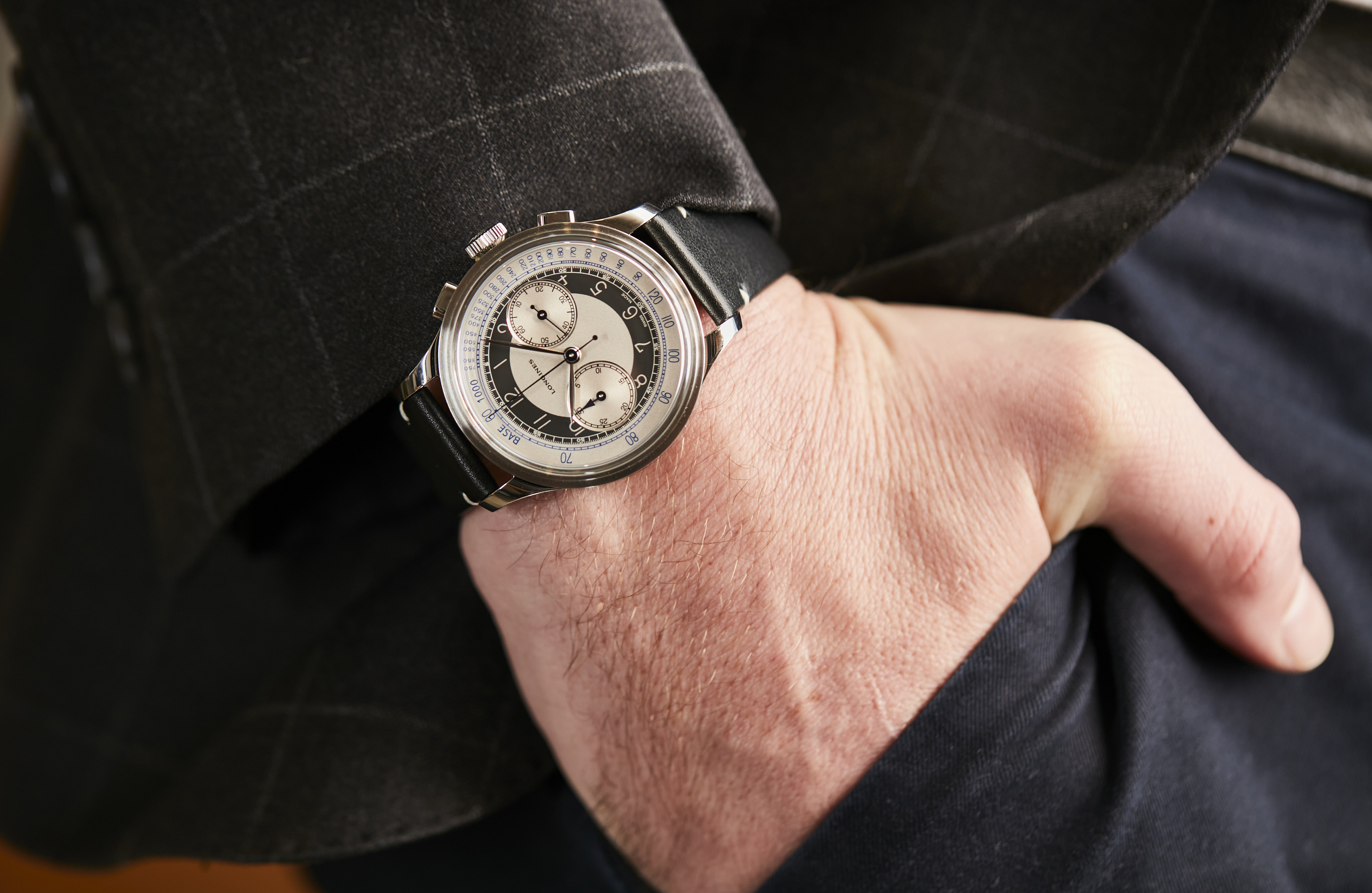 Longines Heritage Classic Tuxedo Tuxedo Chronograph review pricing