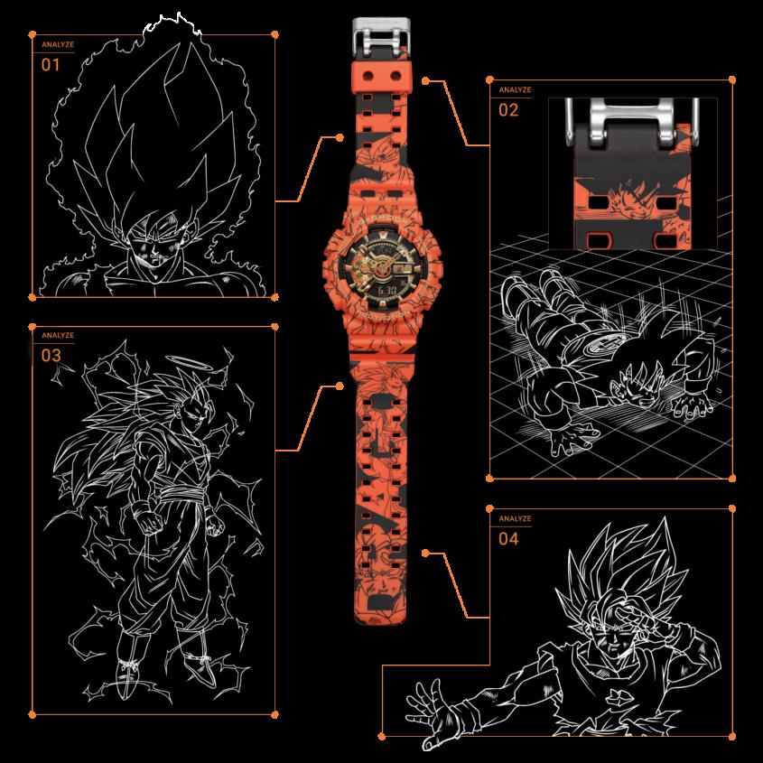 G-Shock x Dragon Ball Z Limited Edition GA110JDB-1A4