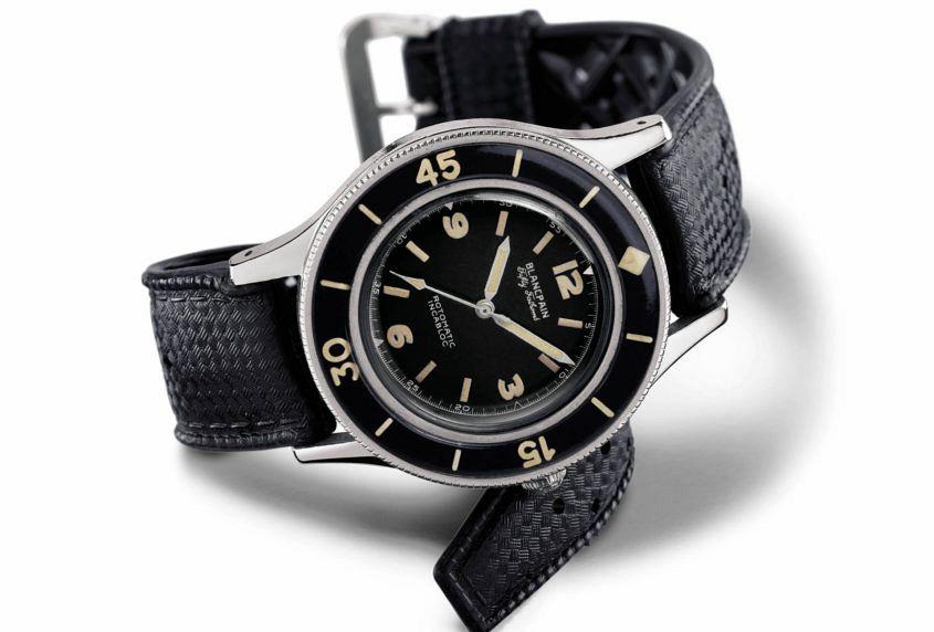 blancpain dive watch history