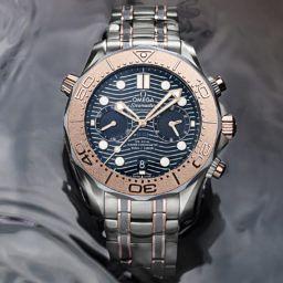 Omega Seamaster Diver 300M Chronograph Gold Titanium Tantalum