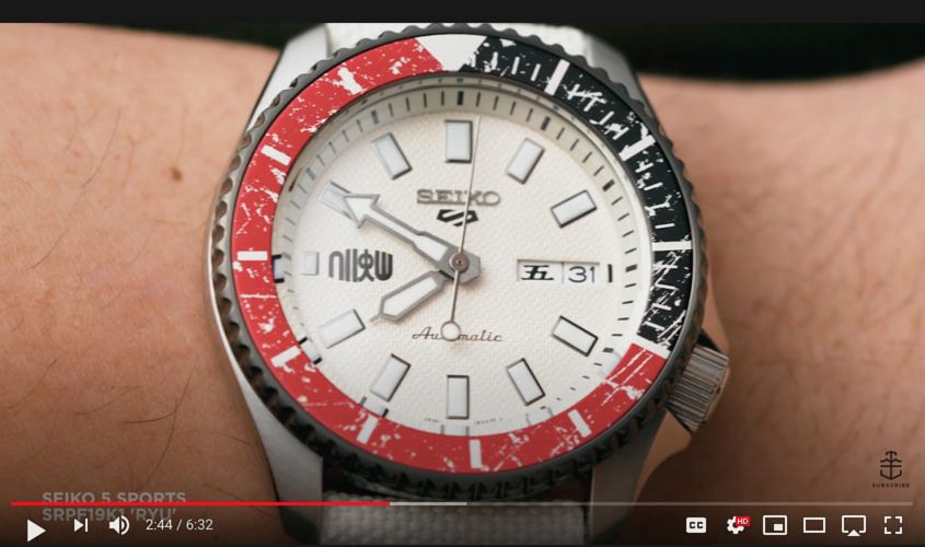Seiko Street Fighter video review
