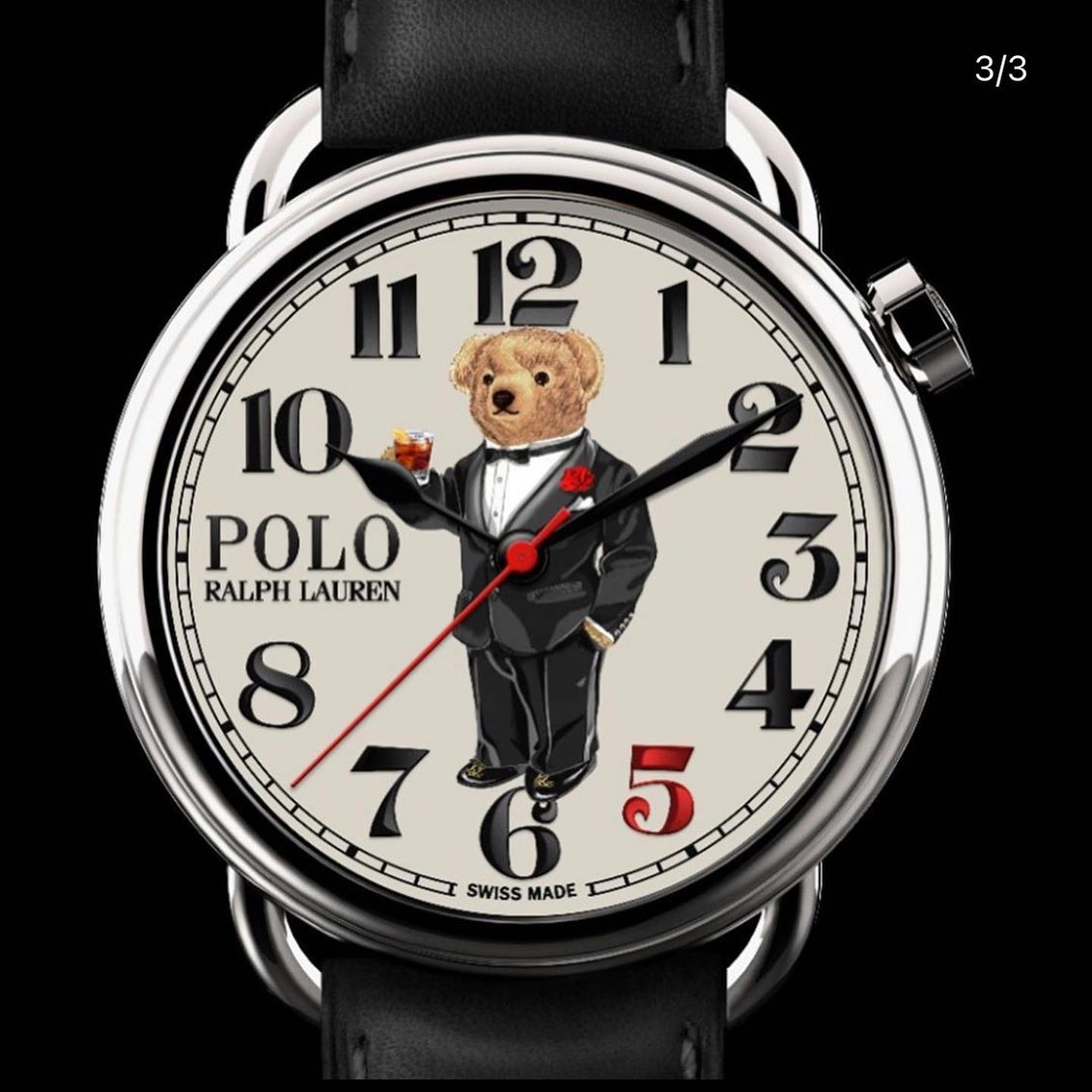 @ralphlauren X @therake - 200 watches only, $1950USD - shut up and take our money! *The bear is drinking a goddamn negroni* Too much. ️