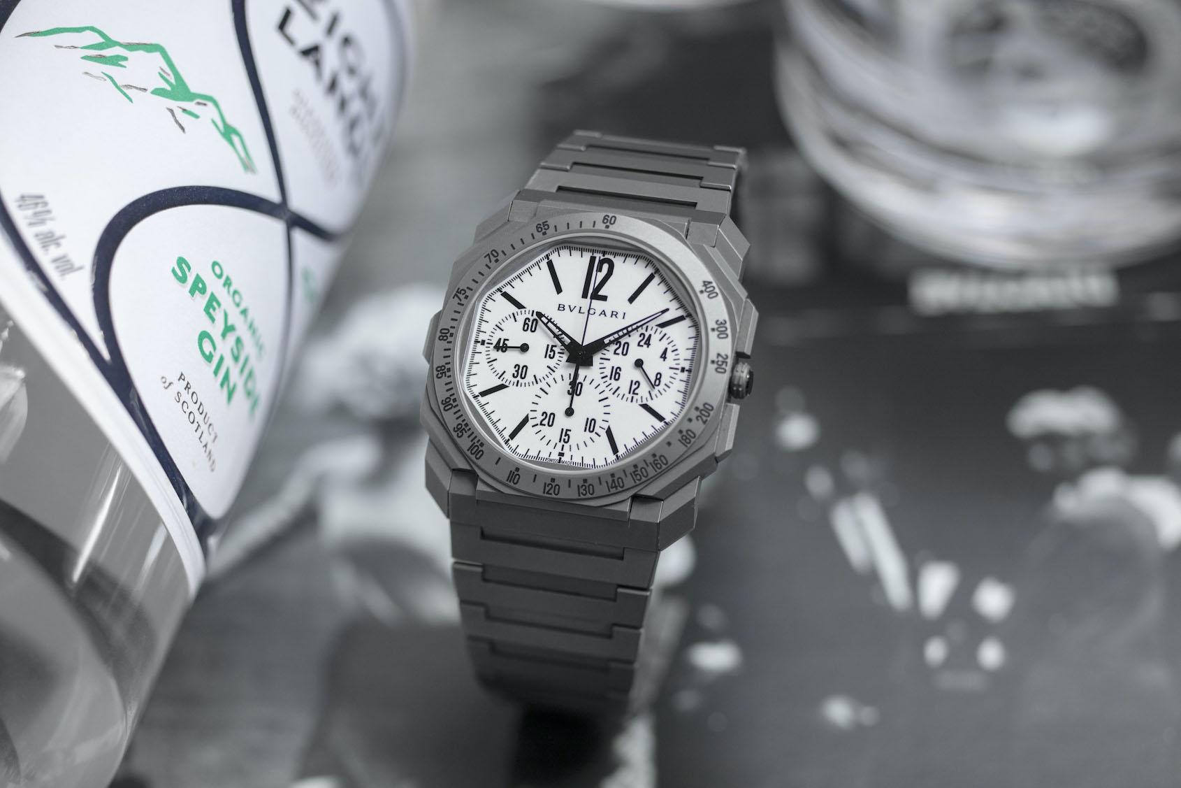 "Bulgari x The Rake x Revolution ""White Light"" Octo Finissimo Chronograph GMT"