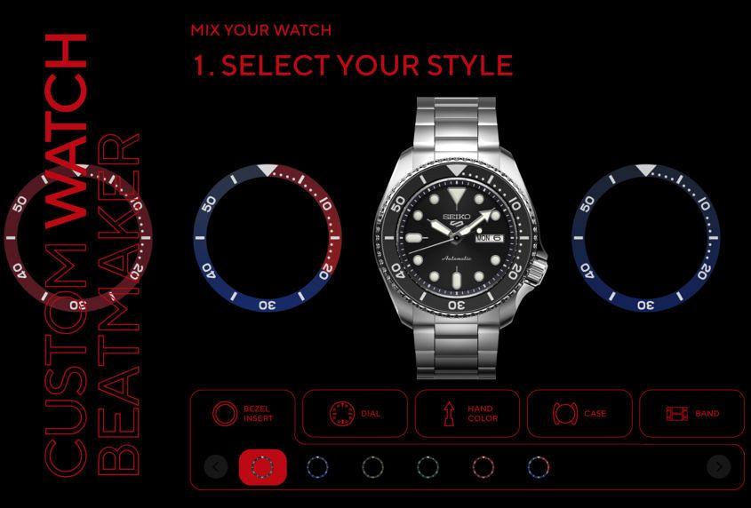 Design Seiko 5 Sports online Custom Watch Beatmaker