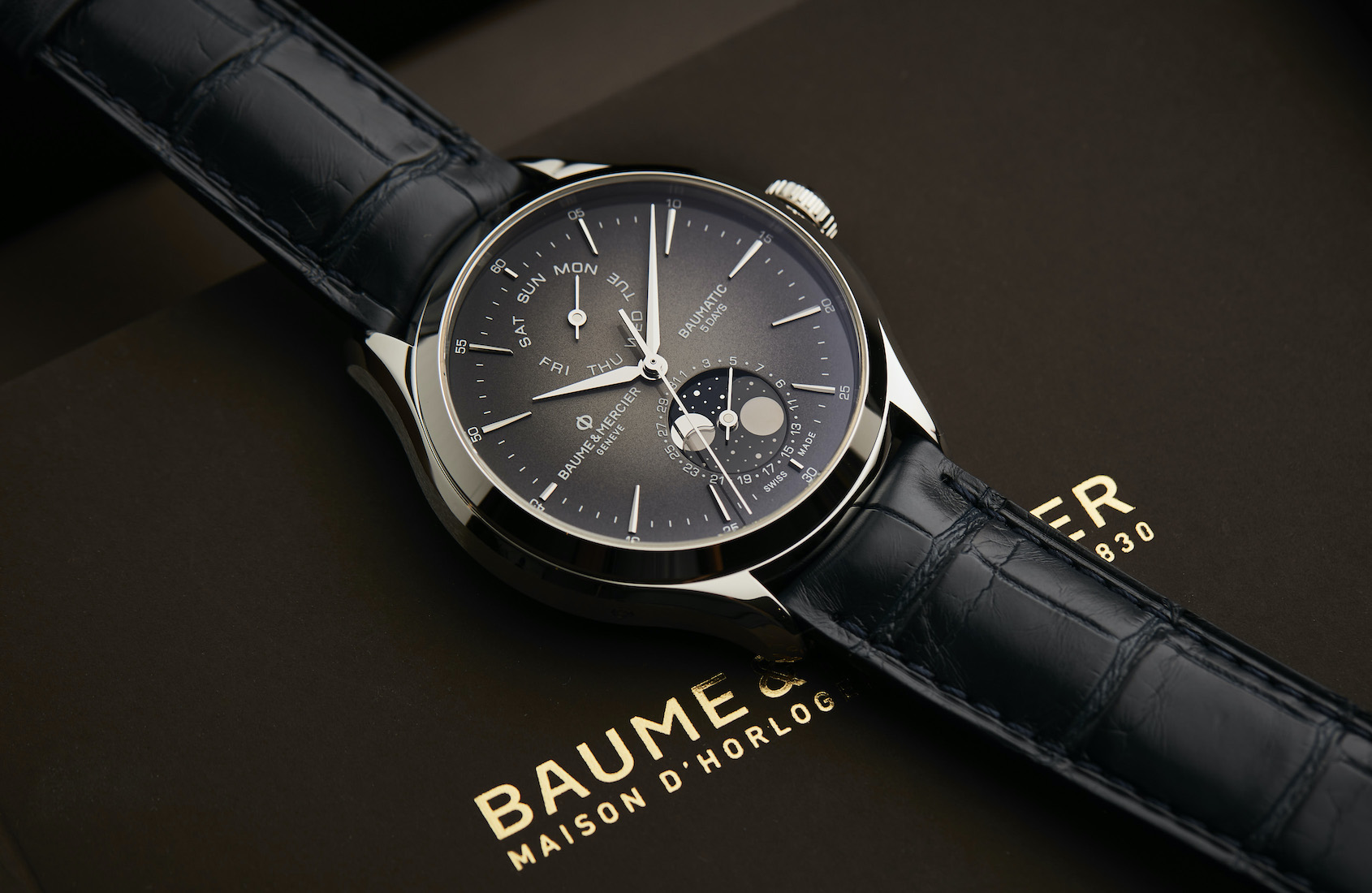 Baume & Mercier Clifton Baumatic Automatic Day Date Moon Phase