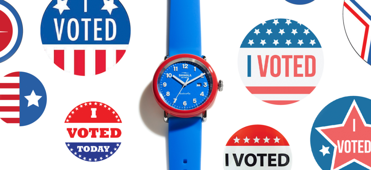 """INTRODUCING: The """"I Voted"""" Shinola Detrola 43mm Limited Edition watch"""